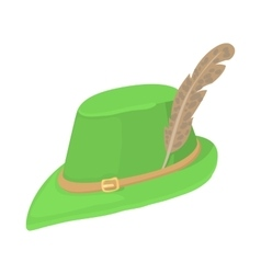 Hunting hat icon cartoon style vector