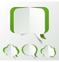 Abstract Green Speech Bubble Set Cut of Paper vector image
