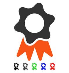 Award seal flat icon vector