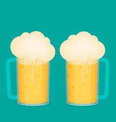 beer cup flat vector image