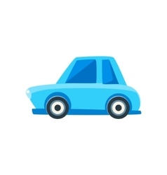 Blue Sedan Toy Cute Car Icon vector image