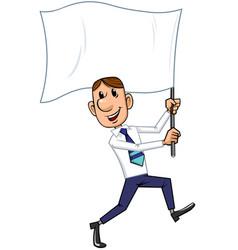 Businessman with flag vector