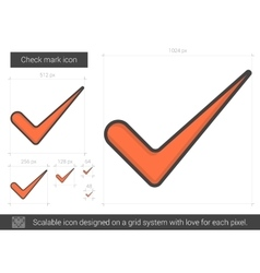 Check mark line icon vector