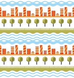 Cityscape seamless pattern vector image