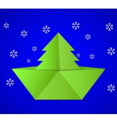 concept of the Christmas tree vector image