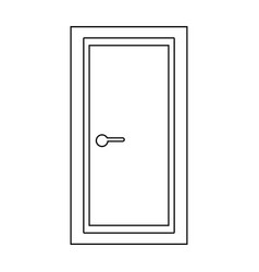 Door the black color icon vector