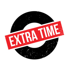 Extra time rubber stamp vector