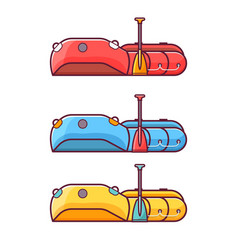fishing inflatable rafting boat icon vector image