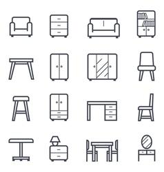 Furniture icon bold stroke vector