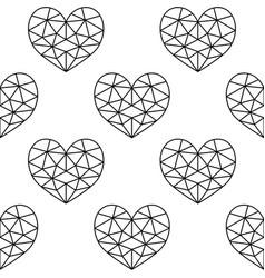 Geometric heart seamless pattern valentine vector