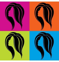 Girls profile in pop-art style vector