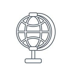 global sphere symbol vector image vector image