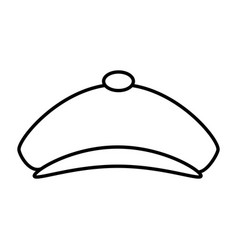 Golf hat isolated icon vector