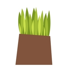Grass with earth vector image