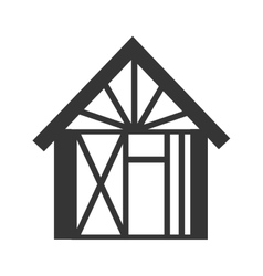 house building under construction icon vector image