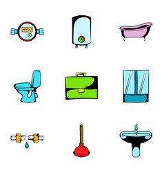 Hygiene icons set cartoon style vector