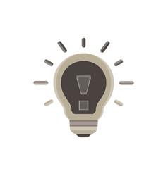lightbulb icon bulb light idea design isolated vector image
