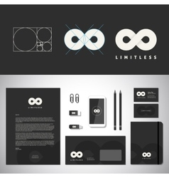 Limitless Abstract Logo Template and Identity vector image vector image