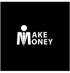 make money lettering vector image