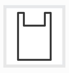 minimal shopping bag icon vector image