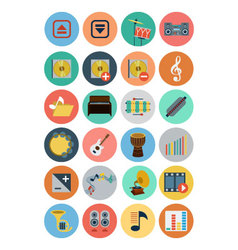 Multimedia flat icons 4 vector