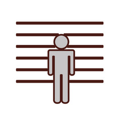 Prisoner silhouette isolated icon vector