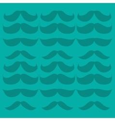 retro mustache set icon vector image