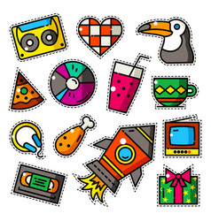 Set of bright patches vector