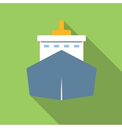 Ship colored flat icon vector