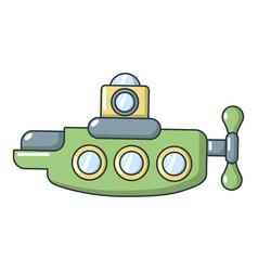 submarine nautical icon cartoon style vector image vector image