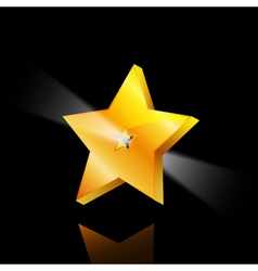 super golden star vector image