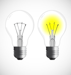 Two Bulbs vector image