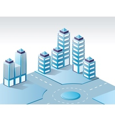 Urban isometric vector image vector image