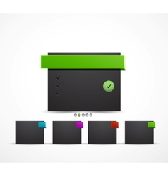 web box design template vector image