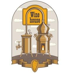 Winery vector