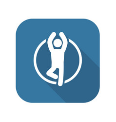 Yoga fitness icon flat design vector
