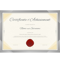 Certificate template in modern theme vector