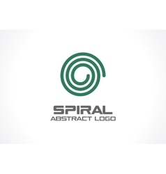 Abstract business company logo Spiral Nature vector image