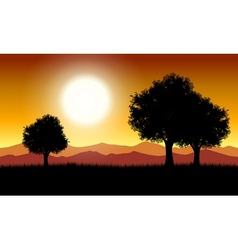 Sunset in nature vector