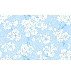 Blue blossom seamless vector