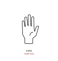 Simple hand icon vector