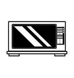 microwave domestic appliance outline vector image