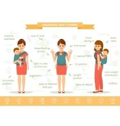 Ergonomic baby carrier vector