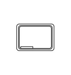 blackboard school symbol vector image