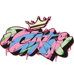 Graffito - cat vector