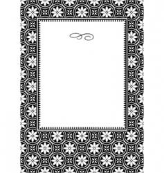 daisy frame vector image