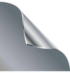 Folded edge of the sheet  silver vector