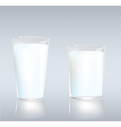 Cups of milk vector