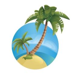Tropic ocean island lanscape vector image