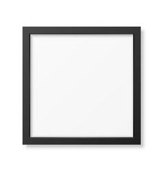 Realistic square black frame vector
